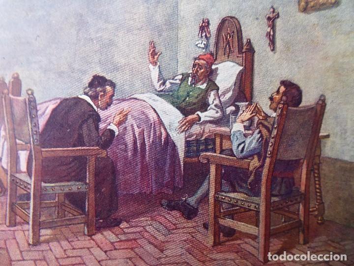 Postales: P-9837. POSTALES DON QUIJOTE DE LA MANCHA. COLECCIÓN COMPLETA DE 25 POSTALES. AÑOS 20. SIN CIRCULAR. - Foto 7 - 192273252