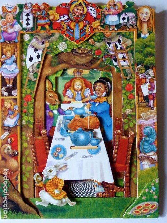 P-9844. ALICIA EN EL PAÍS DE LAS MARAVILLAS. DEPTH CARDS.DESPLEGABLE TRIDIMENSIONAL. AÑO 1997 (Postales - Postales Temáticas - Dibujos originales y Grabados)