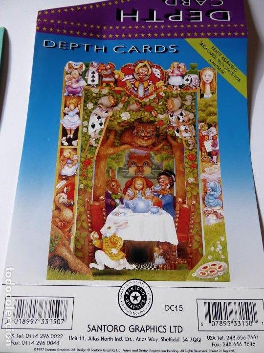 Postales: P-9844. ALICIA EN EL PAÍS DE LAS MARAVILLAS. DEPTH CARDS.DESPLEGABLE TRIDIMENSIONAL. AÑO 1997 - Foto 7 - 192935810