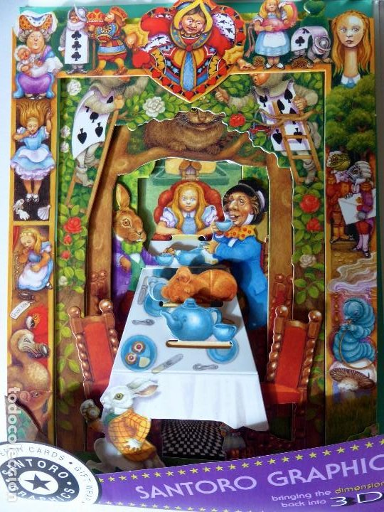 Postales: P-9844. ALICIA EN EL PAÍS DE LAS MARAVILLAS. DEPTH CARDS.DESPLEGABLE TRIDIMENSIONAL. AÑO 1997 - Foto 8 - 192935810
