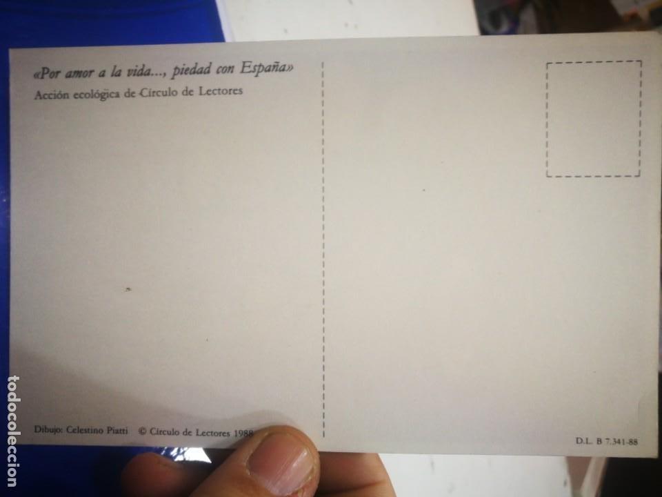 Postales: Postal ACCIÓN ECOLÓGICA DE CIRCULO DE LECTORES 1988 - Foto 2 - 193113368