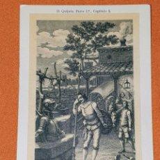 Postales: ANTIGUA TARJETA POSTAL D. QUIJOTE. PARTE 1A. CAPÍTULO 3. DE PRINCIPIOS DE 1900 D NO USADA. Lote 194363317