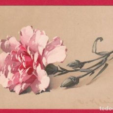 Postales: AE585 FLOR FLORES CLAVEL ROSA POSTAL FIRMADA. Lote 194622532
