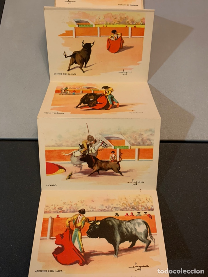 Postales: Bloc( 14 postales ) CORRIDA DE TOROS. C.Mauri(Barcelona). Dibujos - Foto 2 - 194880791