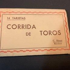 Postales: BLOC( 14 POSTALES ) CORRIDA DE TOROS. C.MAURI(BARCELONA). DIBUJOS. Lote 194880791