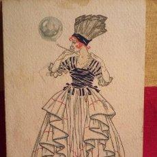 Postales: POSTAL - DIBUJO - 1919 - SABADELL - LLAGOSTERA .. Lote 194957566