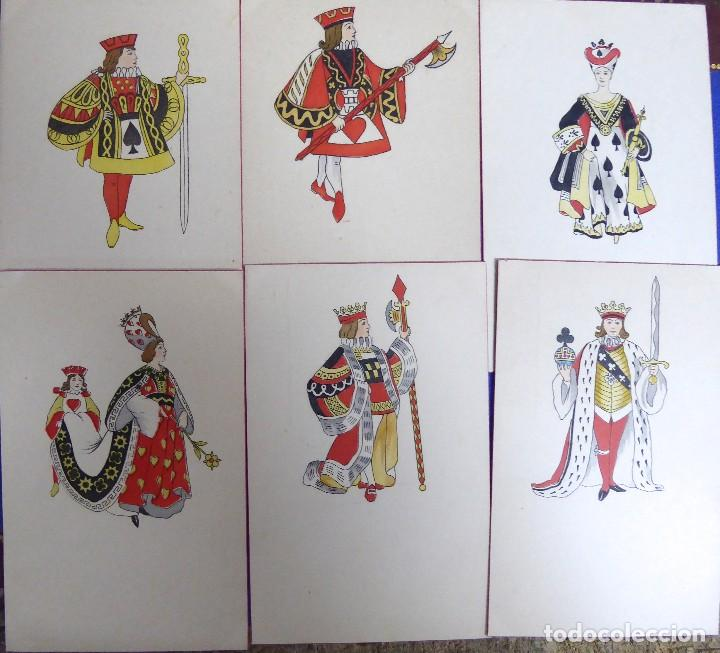 P-10076. LOTE DE 6 POSTALES ANTIGUAS CON FIGURAS DE DIVERSOS PALOS DE NAIPES.SIN CIRCULAR (Postales - Postales Temáticas - Dibujos originales y Grabados)