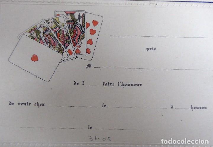 Postales: P-10077. 4 INVITACIONES PARA PARTIDA DE CARTAS. SIN CIRCULAR. AÑOS 30. - Foto 2 - 195224147