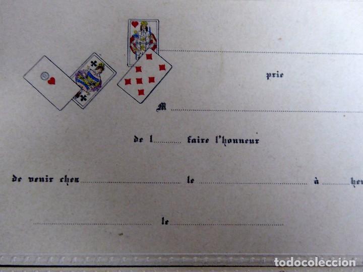 Postales: P-10077. 4 INVITACIONES PARA PARTIDA DE CARTAS. SIN CIRCULAR. AÑOS 30. - Foto 3 - 195224147