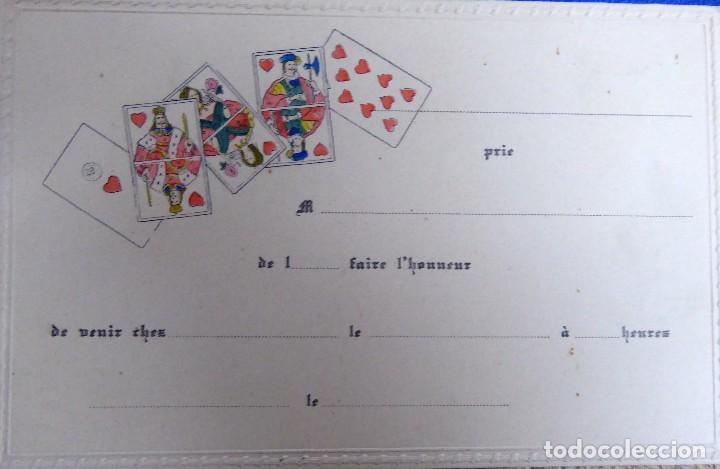 Postales: P-10077. 4 INVITACIONES PARA PARTIDA DE CARTAS. SIN CIRCULAR. AÑOS 30. - Foto 4 - 195224147