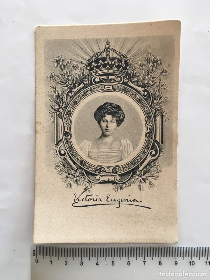 FOTO POSTAL. S. M. Dª. VICTORIA EUGENIA. J. B. S. M. (Postales - Postales Temáticas - Dibujos originales y Grabados)