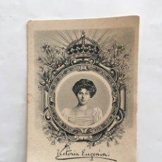 Postales: FOTO POSTAL. S. M. Dª. VICTORIA EUGENIA. J. B. S. M.. Lote 195266886