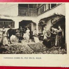 Postales: ANTIGUA POSTAL DE FERRANDIZ - COMO EL PEZ EN EL AGUA (I SERIE - NÚM. 8) - HAUSER Y MENET. Lote 195488948