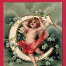 Postales: AE956 ANGEL ANGELITO ABECEDARIO ALFABETO LETRA D CON FLORES POSTAL EN RELIEVE GOFRADA. Lote 195512341