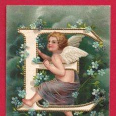 Postales: AE957 ANGEL ANGELITO ABECEDARIO ALFABETO LETRA E CON FLORES POSTAL EN RELIEVE GOFRADA. Lote 195526611