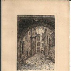 Postales: GRABADO *ESTAMPES DE BARCELONA* - CALLE *POU DE L' ESTANC*. Lote 195748590