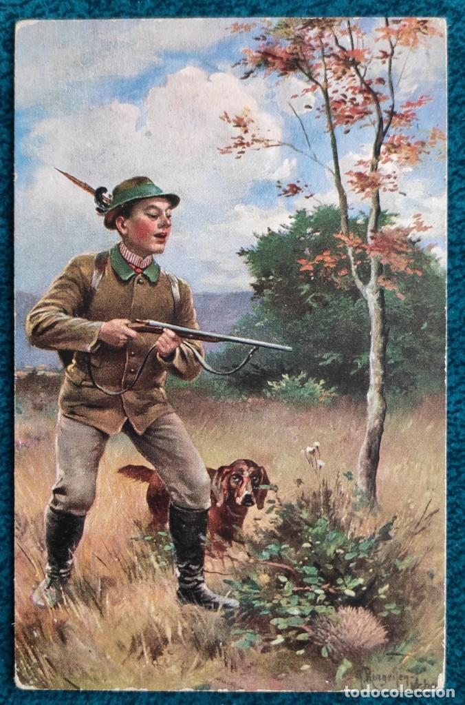 BONITA POSTAL DE 1908 (Postales - Postales Temáticas - Dibujos originales y Grabados)