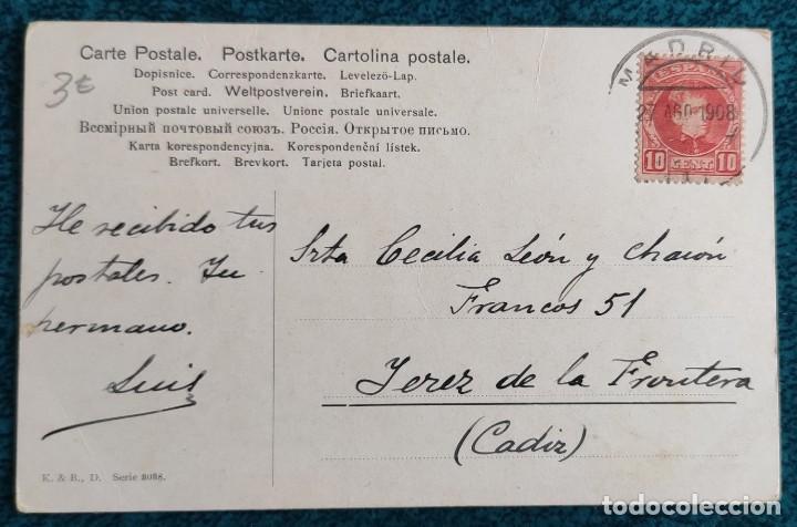 Postales: Bonita postal de 1908 - Foto 2 - 197073311