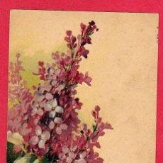 Postales: AE320 FLOR FLORES RAMA DE FLORES DE LILA FECHA 1909 POSTAL FIRMADA. Lote 197769225