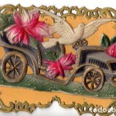 Postales: POSTAL AÑO 1914 TROQUELADA Y EN RELIEVE. Lote 197847162