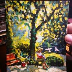Postales: POSTAL LA LECTORA PINTOR CON LA BOCA KEITH JANSZ N E 201 S/C. Lote 198600452