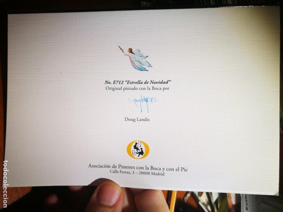 Postales: Postal Estrella de Navidad N E712 PINTADO CON LA BOCA DOUG LANDIS S/C - Foto 2 - 198665720