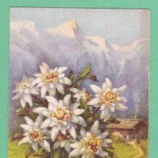 Postales: AD2 FLOR FLORES EDELWEISS POSTAL FIRMADA. Lote 199265443