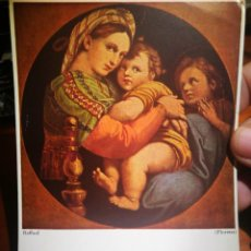 Postales: POSTAL RAFAEL SANTI 1483- 1520 MADONNA DELLA DEDOS FLÓREZ N A 3253 DZ 1966 ESCRITA. Lote 199338620