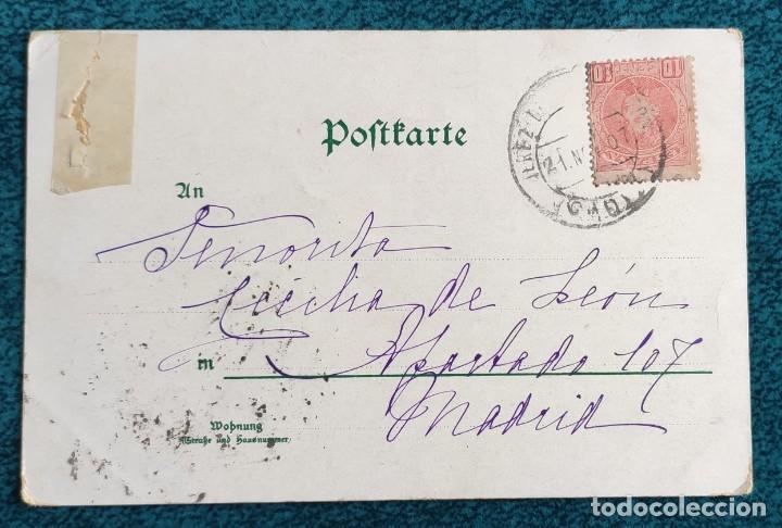 Postales: Bonita postal de 1907 - Foto 2 - 204151093