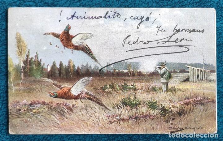 BONITA POSTAL DE 1903 (Postales - Postales Temáticas - Dibujos originales y Grabados)