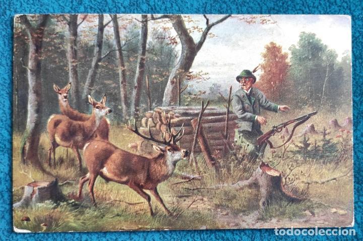 BONITA POSTAL DE 1907 (Postales - Postales Temáticas - Dibujos originales y Grabados)