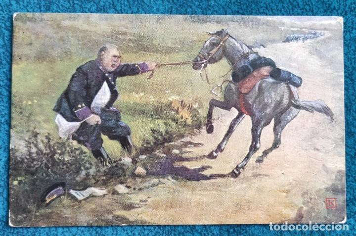 BONITA POSTAL DE 1909 (Postales - Postales Temáticas - Dibujos originales y Grabados)