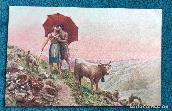 BONITA POSTAL DE 1906 (Postales - Postales Temáticas - Dibujos originales y Grabados)