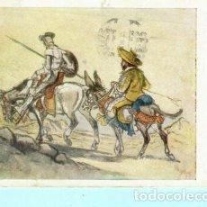 Postales: POSTAL DE DON QUIJOTE Nº 2.105 PINTADO CON LA BOCA EDITO ARTIS MUTI CIRCULADA 1977. Lote 205021985