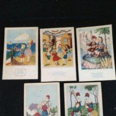 Postales: LOTE DE 5 POSTALES ILUSTRADAS , EDICIONES SIRENITA. Lote 205900760