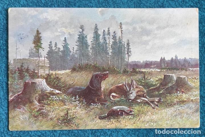 BONITA Y VALIOSA POSTAL DE 1906 (Postales - Postales Temáticas - Dibujos originales y Grabados)