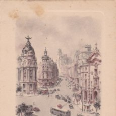 Postales: DÍPTICO TARJETA NAVIDAD. MADRID C/ ALCALA Y AVD. JOSE ANTO ILUST, CABEDO TORRENTS VER FOTO ADICIONAL. Lote 207154268
