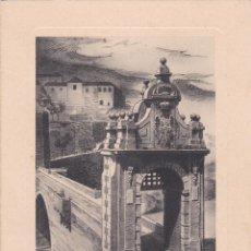 Postales: DÍPTICO TARJETA TOLEDO PUENTE DE ALCANTARA HUECO GRABADO FOURNIER VER FOTO ADICIONAL. Lote 207155955