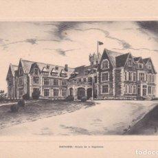 Postales: DÍPTICO TARJETA SANTANDER PALACIO DE LA MAGDALENA HUECO GRABADO FOURNIER VER FOTO ADICIONAL. Lote 207156053