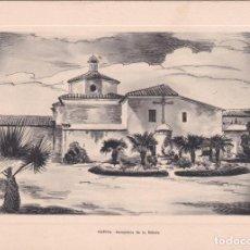 Postales: DÍPTICO TARJETA HUELVA MONASTERIO DE LA RABIDA HUECO GRABADO FOURNIER VER FOTO ADICIONAL. Lote 207156147