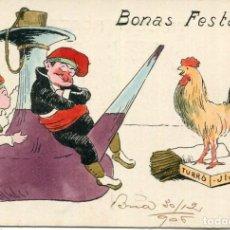Postales: POSTAL CATALANISTA DE NADAL- BONAS FESTAS- AÑO 1906-ILUSTRADOR AGUSTI ANTIGA-MUY RARA. Lote 210962255