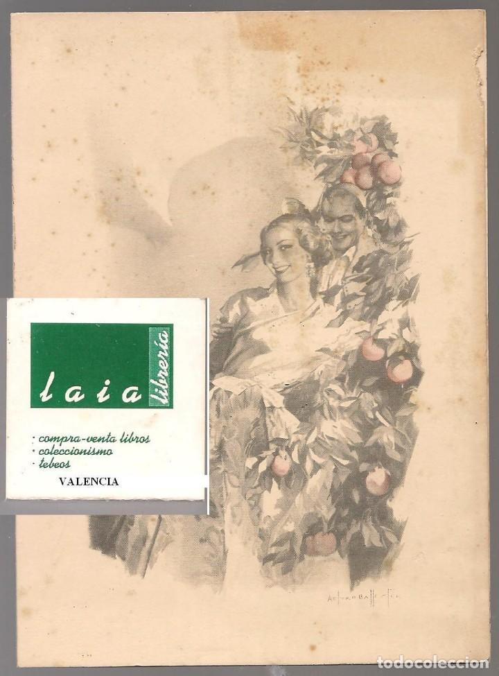 03052 FELICITACION FALLERA, DIBUJO ARTURO BALLESTER,VALENCIA , EDITOR JDP 15X 12 CM UN POCO MANCHA (Postales - Postales Temáticas - Dibujos originales y Grabados)