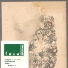 Postales: 03052 FELICITACION FALLERA, DIBUJO ARTURO BALLESTER,VALENCIA , EDITOR JDP 15X 12 CM UN POCO MANCHA. Lote 211893237