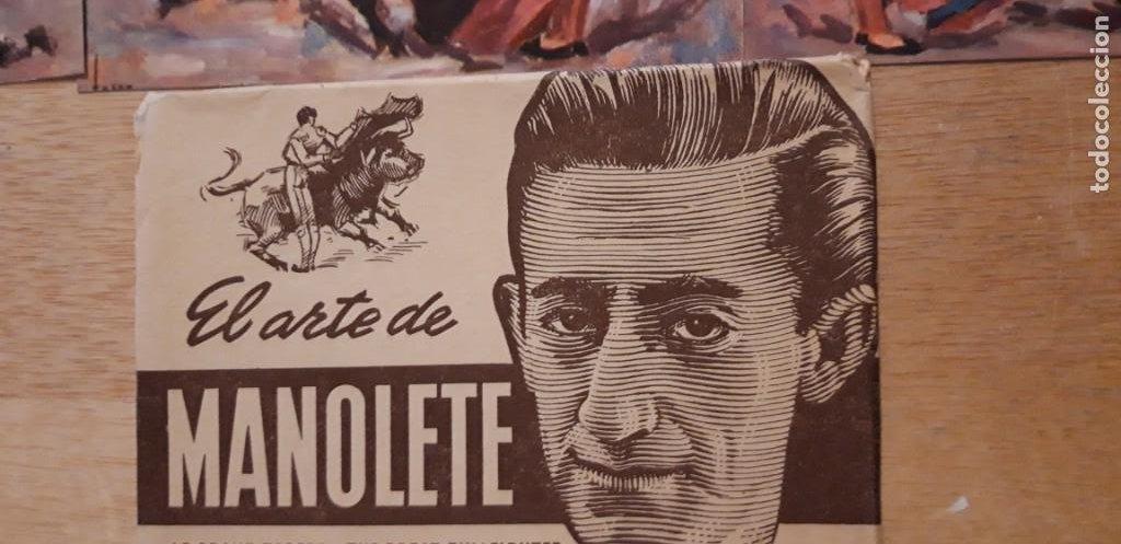 Postales: 1 COLECCION 9 POSTALES ** MANOLETE ** EL GRAN TORERO . EDIT ARTIGAS BARCELONA - Foto 2 - 217258778