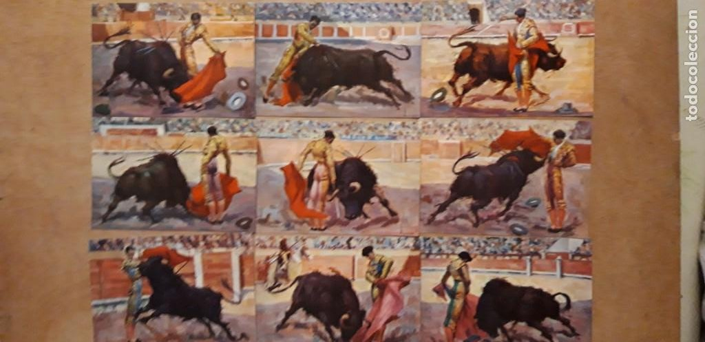 1 COLECCION 9 POSTALES ** MANOLETE ** EL GRAN TORERO . EDIT ARTIGAS BARCELONA (Postales - Postales Temáticas - Dibujos originales y Grabados)