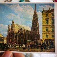 Postales: POSTAL RUDOLF VON ALT 1812 - 1905 SER STEPHANSDOM BOM STOCK UN ROSEN OLATZ 1832 OSTERREICHISCHE GALE. Lote 220556541