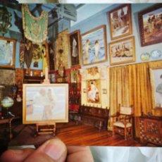 Postales: POSTAL JOAQUÍN SOROLLA BASTIDA 1863 - 1923 MUSEO SOROLLA MADRID EL ESTUDIO DEL PINTOR N 24 ESCUDO DE. Lote 220561851