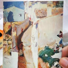 Postales: POSTAL JOAQUÍN SOROLLA BASTIDA CALLE DEL ALBAICIN I CENTENARIO DE SOROLLA DOMÍNGUEZ RAMOS S/C. Lote 220565608
