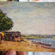 Postales: POSTAL ALFRED SISLEY 1839 - 1899 SAINT MAMES PAYSAGE 1884 GENEVE MUSEE D'ART ET D'HISTOIRE S/C. Lote 220566041