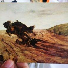 Postales: POSTAL GIOVANNI FATTORI 1825 - 1908 LO STAFFTO SOLDIER FALLING FROM HIS MOUNT NOVA LUX S/C. Lote 220566358
